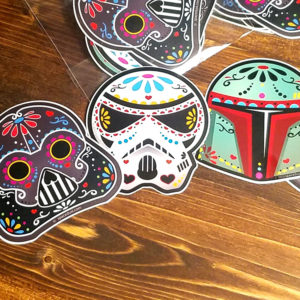 Sticker Pack: Star Wars Sugar Skull Day of the Dead Weatherproof Vinyl Stickers